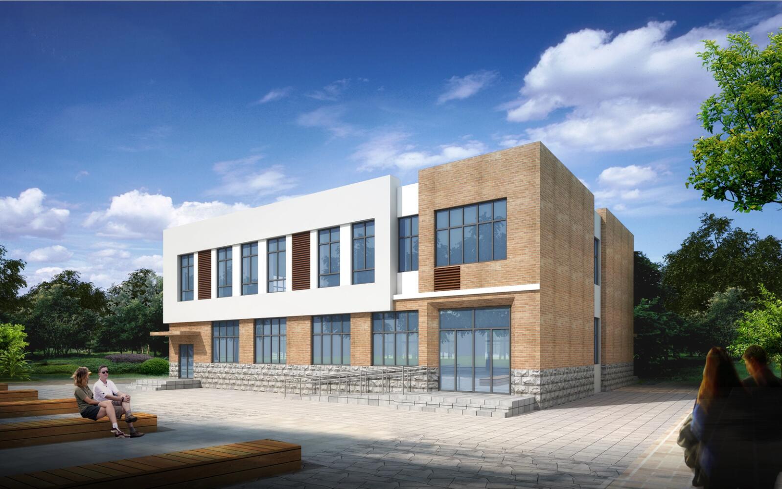 易县东霍山小学新建教学楼
